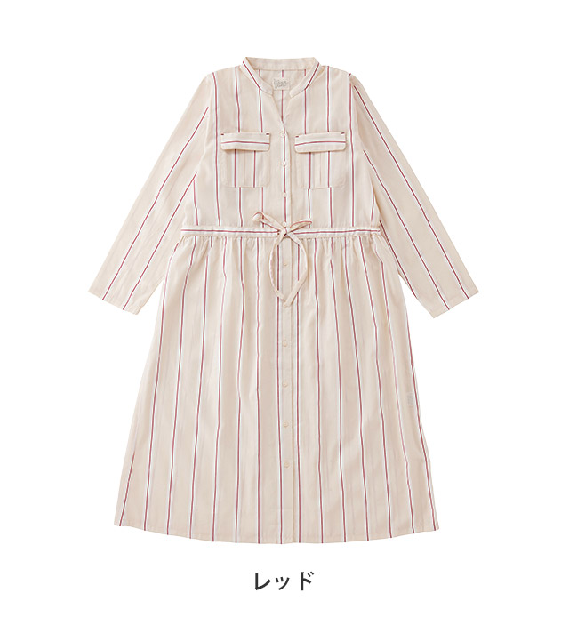 18-51004|ナルエー narue moon tan stripe Jacquard ワンピース