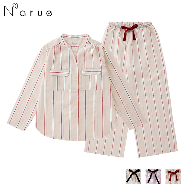 18-51409|ナルエー narue moon tan stripe Jacquard 上下セット