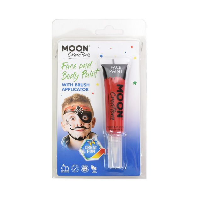 ボディペイント絵具 MOON FACE&BODY Paints (C01792) Red (H)_3a_