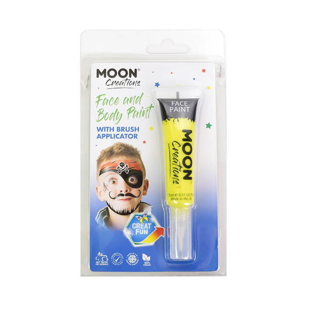 ボディペイント絵具 MOON FACE&BODY Paints (C01808) Yellow (H)_3a_