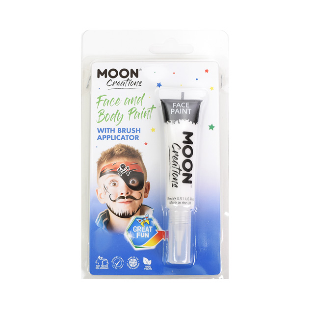 ボディペイント絵具 MOON FACE&BODY Paints (C01853) White (H)_3a_