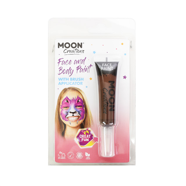 ボディペイント絵具 MOON FACE&BODY Paints (C01884) Brown (H)_3a_