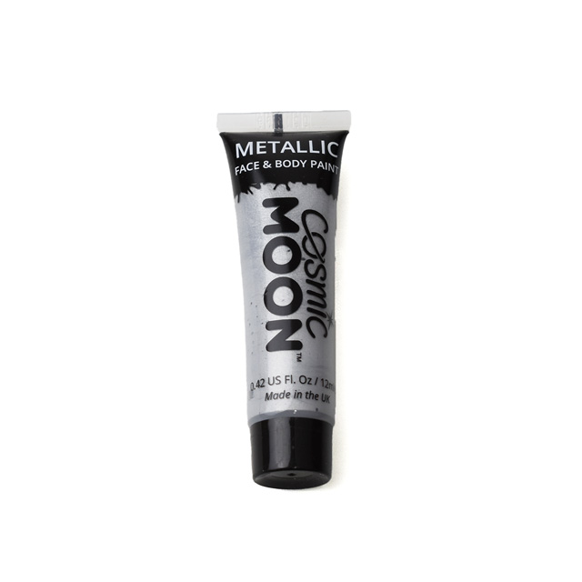 ボディペイント絵具 MOON Metallic Face and Body Paints (S02003) Silver (H)_3a_
