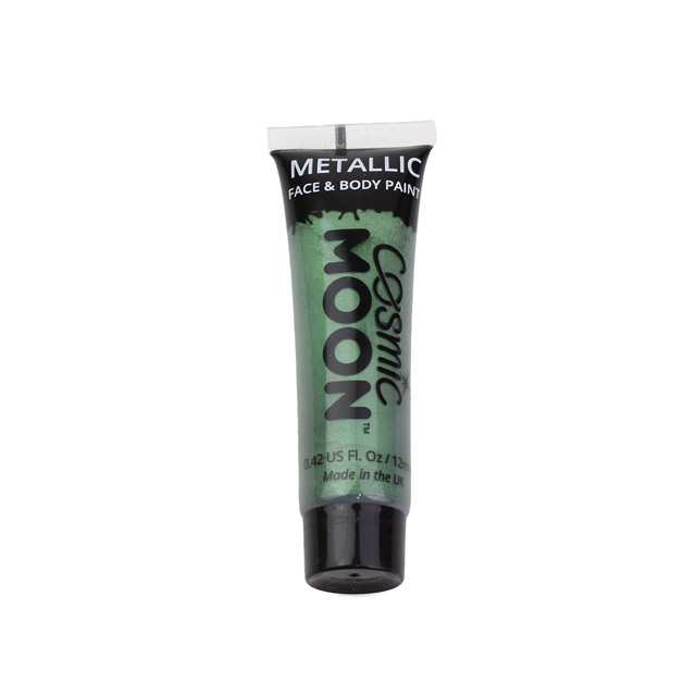 ボディペイント絵具 MOON Metallic Face and Body Paints (S02058) Green (H)_3a_