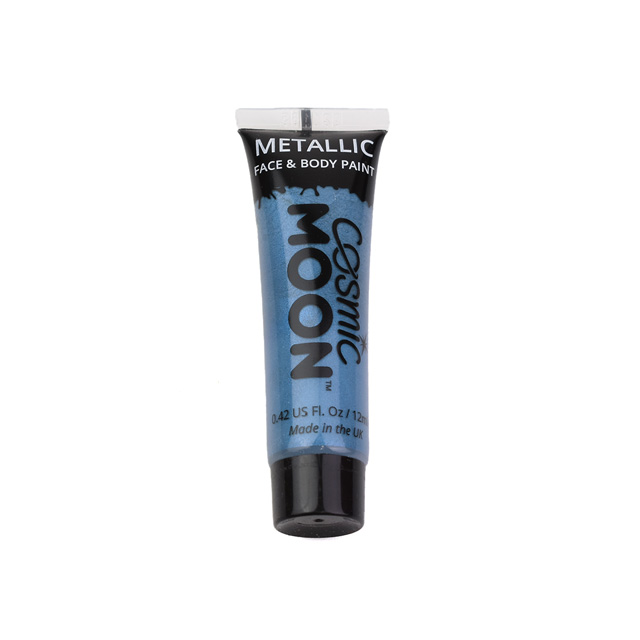 ボディペイント絵具 MOON Metallic Face and Body Paints (S02065) Blue (H)_3a_