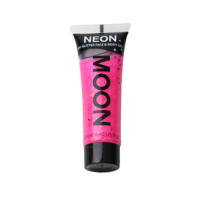 フェイス&ボディ用ジェル MOON Neon Glitter Face and Body Gels (M7001) HotPink (H)_3a_