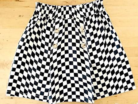 50cmで作るボックスプリーツスカート