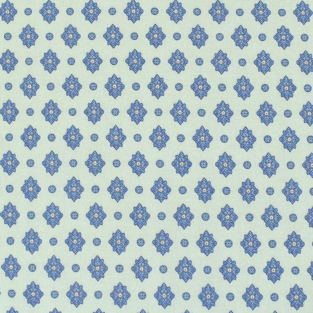 生地 SOULEIADO-ソレイアード- ヴィンテージフィール プティット・メルベイユ(SLFCV) 86B.オパールグリーン (M)_1f_