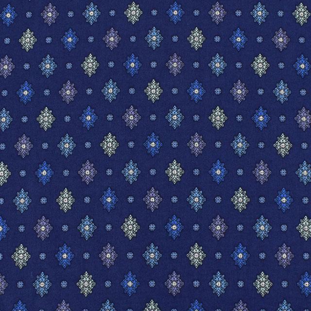生地 SOULEIADO-ソレイアード- ヴィンテージフィール プティット・メルベイユ(SLFCV) 86C.ミッドナイト (M)_1f_
